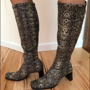 Shaw Snakeskin Dress Boots